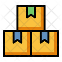 Stock Inventory Cardboard Icon