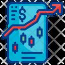 Stock Analysis Smartphone Mobile Icon
