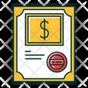 Stock Certificate Icon