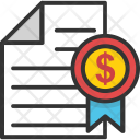 Stock Certificate Icon