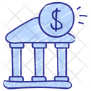 Bank Building Exchange Icon