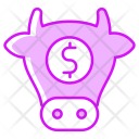 Stock Market Cow Icon