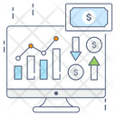 Stock Market Stock Exchange Data Analytics Icon