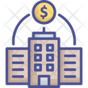 Stock Market Trade Center Bank Icon