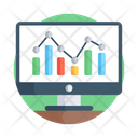 Stock Market Online Data Data Analytics Icon
