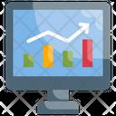 Stock Market Analysis Investment Icon