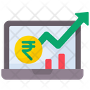 Stock Market Graph Stock Price Up Stock Analysis Icon