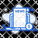 Stock Market News Newspaper Newsletter Icon