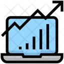 Business Financial Laptop Icon