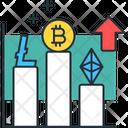 Stocks Bitcoin Bar Chart Icon