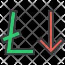 Stocks Finance Litecoin Icon