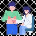 Tummy Checkup Stomach Checkup Treatment Icon