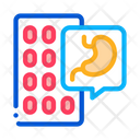 Pills Against Stomach Icon