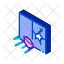 Stone Broken Window Strike Icon