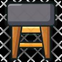 Stool Armless Bench Icon