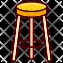 Furniture Stool Tabouret Icon