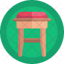 Stool Furniture Wooden Stool Icon