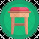 Stool Furniture Wooden Stool Icon