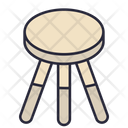 Stool Chair Furniture Icon