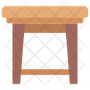 Bar Stool Seating Furnishing Icon