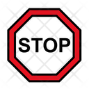 Stop Road Sign Sign Icon