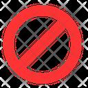 Stop No Block Icon