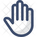 M Hand Stop Security Icon