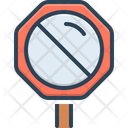 Stop Come To A Stop Not Allowed Sign Icon