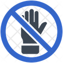 Hand Restriction Prohibition Icon
