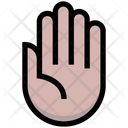 Hand Palm Four Fingers Icon