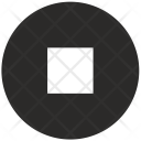 Stop Music Player Icon