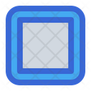 Stop Round Player Icon