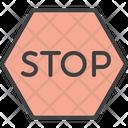 Stop Block Pause Icon
