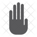 Stop Hand Warning Icon