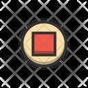 Stop Button Media Icon
