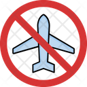 Stop Airplane Icon