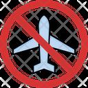 No Airplane Plane Is Ban Flight Blocked Icon