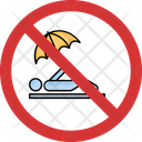 Stop Beach Relaxing Icon