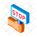 Stop Racism Nameplate Icon