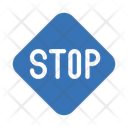 Stop Traffic Road Icon