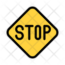 Stop Board Stop Traffic Icon