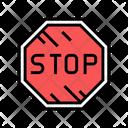 Stop Board Stop Road Icon