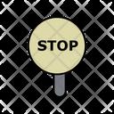 Stop Board Icon