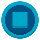 Stop Media Player User Interface Icon