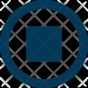Stop Button Recording Icon