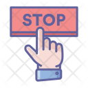 Stop Button Finger Icon