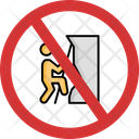 No Climbing Climbing Not Allowed Climbing Prohibition Icon
