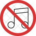 Stop Music Noise No Music Noise Music Noise Not Allowed Icon