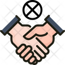 Stop Shake Hand Icon