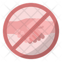 Stop Shaking Hands Virus Transmission Covid Icon
